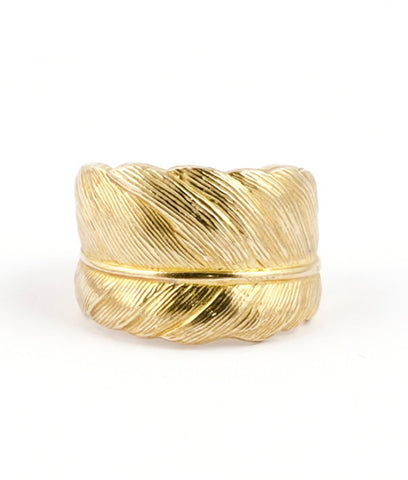 Gold Feather Ring 18ct : Take Flight - IndependentBoutique.com