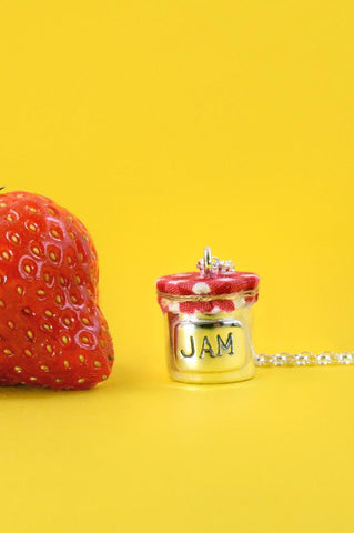 Silver Jam Jar Necklace - IndependentBoutique.com