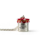 solid silver pendant jam jar necklace by Bug | IndependentBoutique.com