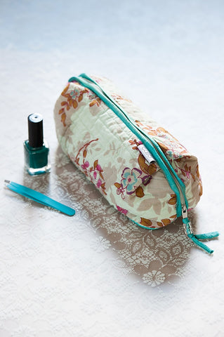 Blue Beautiful Bella Make-Up Bag - IndependentBoutique.com
