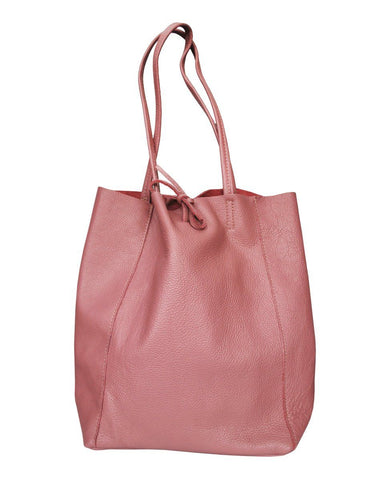 Pink Beatrice Leather Bag - IndependentBoutique.com