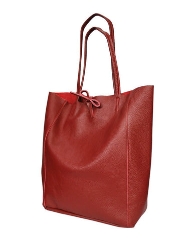 Dark Red Beatrice Leather Bag - IndependentBoutique.com