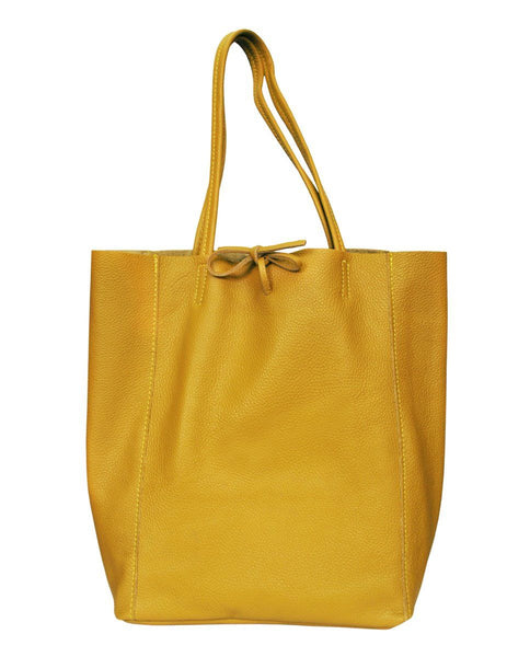 Mustard Beatrice Leather Bag - IndependentBoutique.com