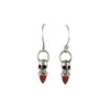 Voodoo Skull Earrings - Silver & Garnet - IndependentBoutique.com