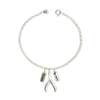 solid silver bracelet with charms by Bug | IndependentBoutique.com