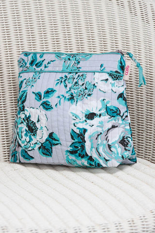 Rosetta Emerald Tall Make-Up Bag