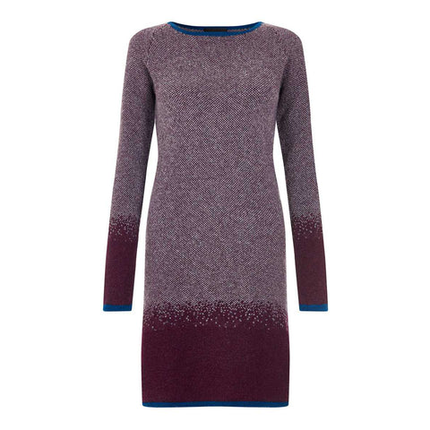 Grape Lambswool Ombre Dress - IndependentBoutique.com