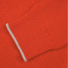 red recycled cashmere cardigan jumper close-up by Lowie