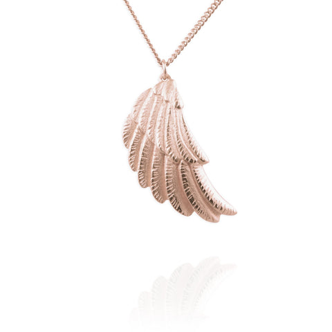 Rose Gold Wing Necklace - IndependentBoutique.com