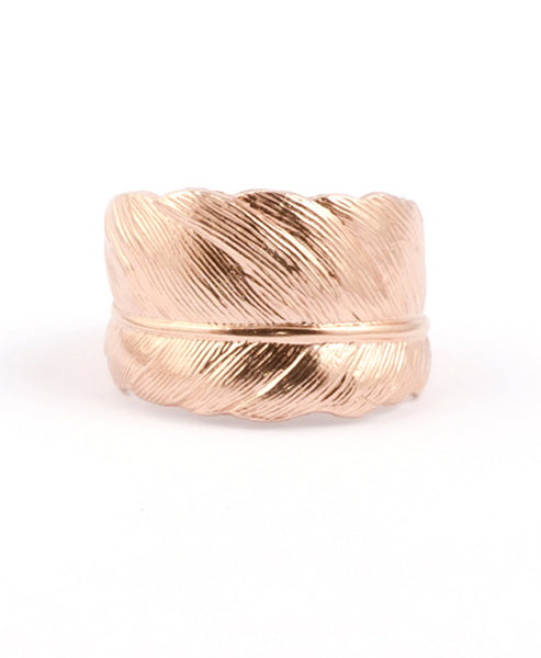 Rose Gold Plated Feather Ring : Take Flight - IndependentBoutique.com