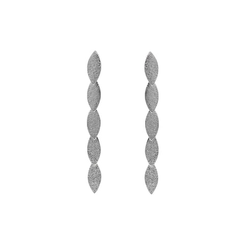 silver drop earrings by Cara Tonkin