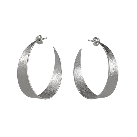 Silver Large Hoop Earrings by Cara Tonkin