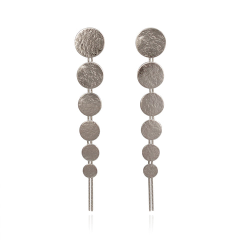 Silver Large Drop Earrings by Cara Tonkin