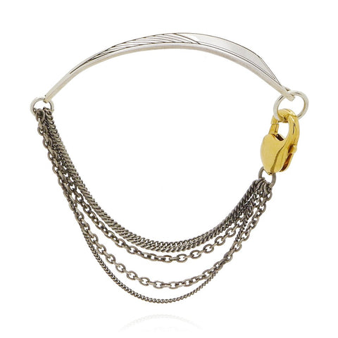 statement bracelet in silver and gold from Comfort Station the British Jewellers
