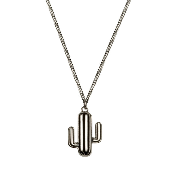 Cactus Necklace - Oxydised silver - IndependentBoutique.com