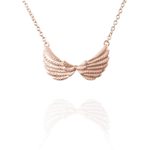 Rose Gold Double Wing Necklace - IndependentBoutique.com