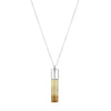 Smoky Quartz Cylinder Necklace - Silver - IndependentBoutique.com