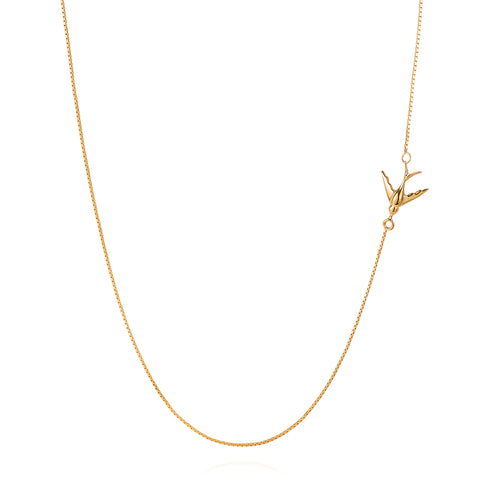 Swallow Necklace - Gold - IndependentBoutique.com