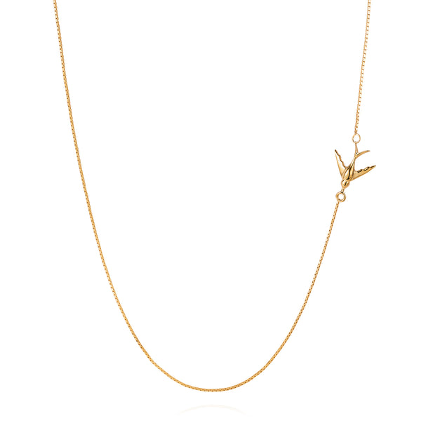Swallow Necklace - Gold