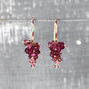 Pink Tourmaline Grape Earrings - IndependentBoutique.com