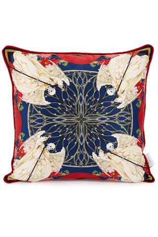 printed silk cushion cover for the home