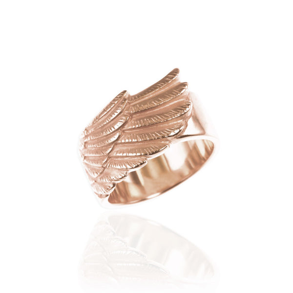 Rose Gold Wing Ring - IndependentBoutique.com