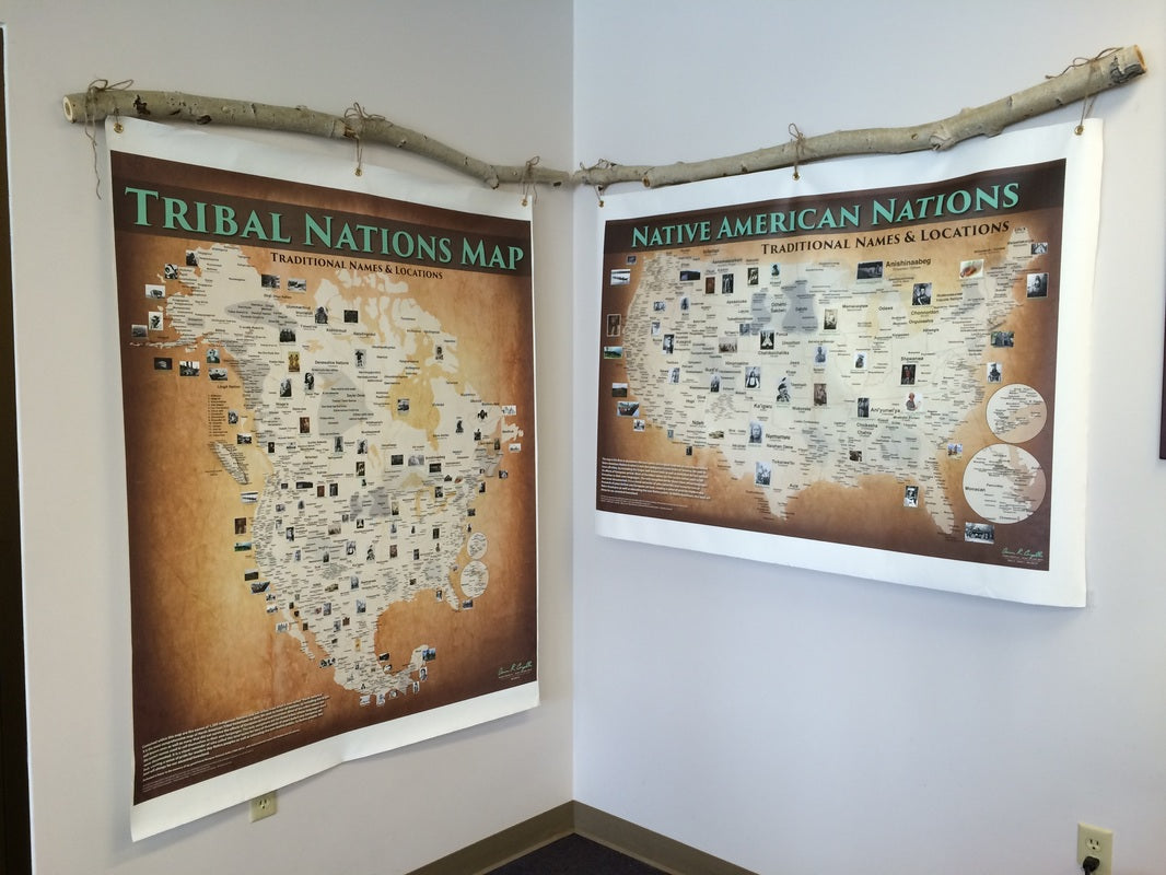 Native American Tribal Map - Canvas