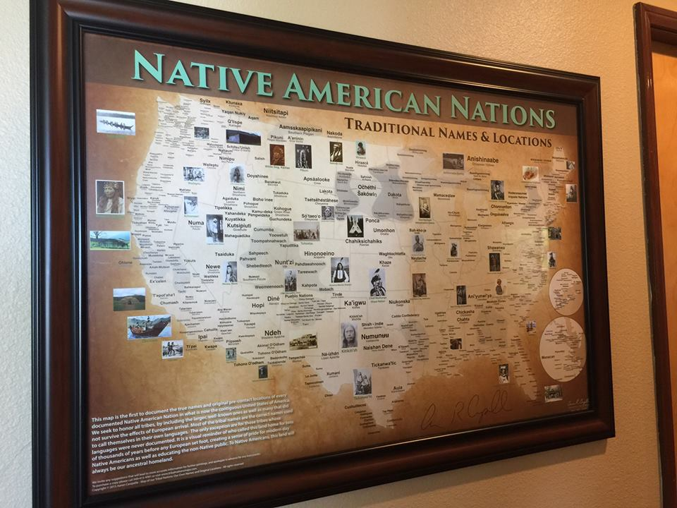 Indian Tribes Map Poster / Wall Art