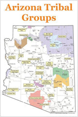 Tribal Groups of Arizona Map