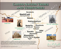 Caddo Nation Tribes and Territories Map Poster