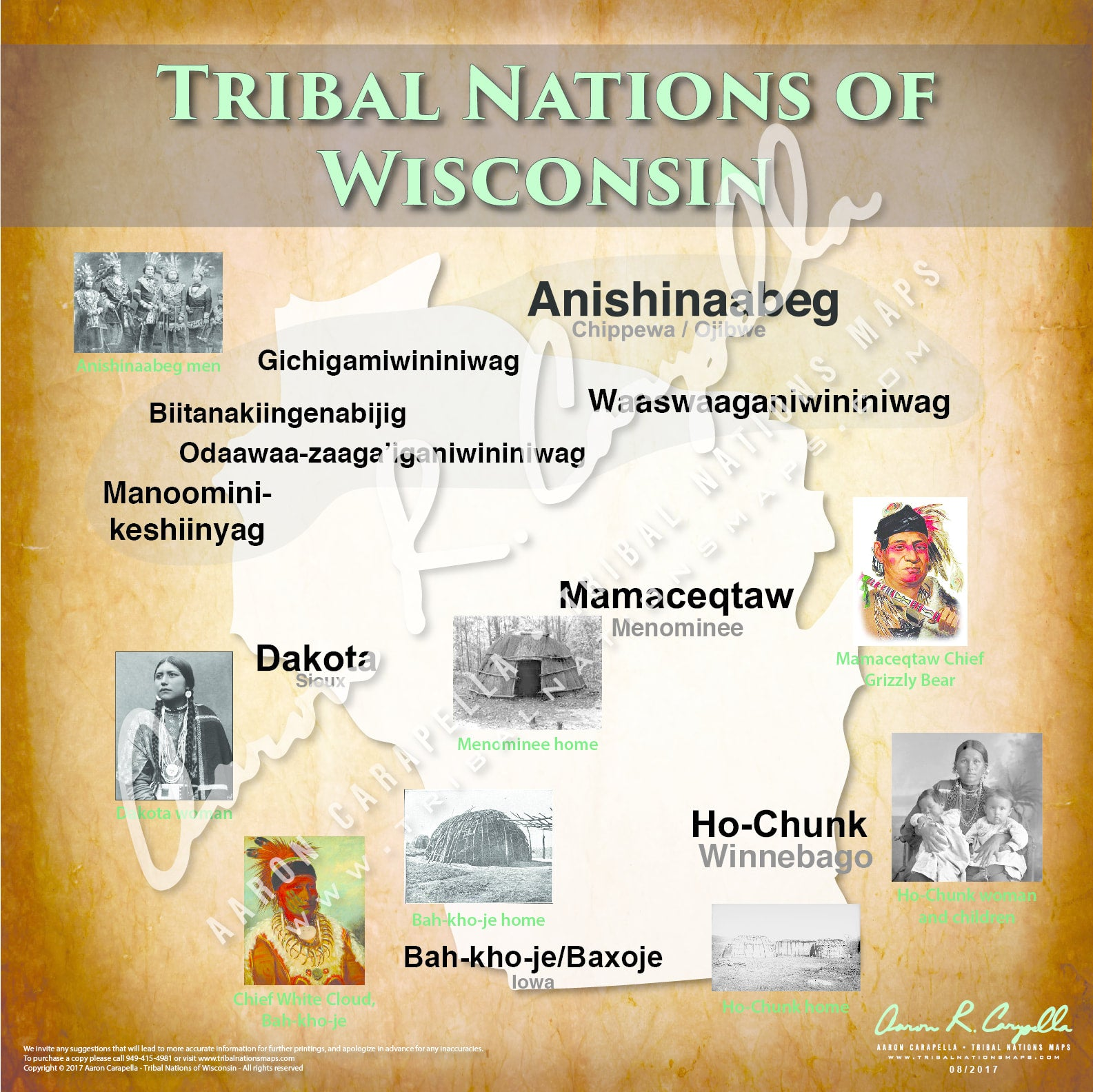 Tribal Nations of Wisconsin Map