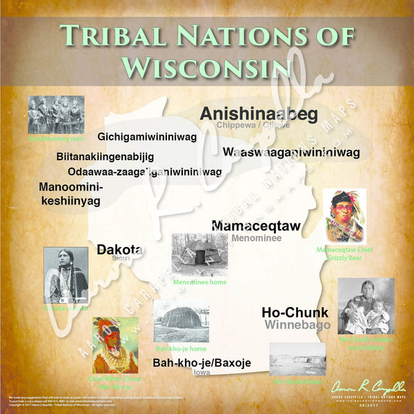 Tribal Nations of Wisconsin Map Puzzle