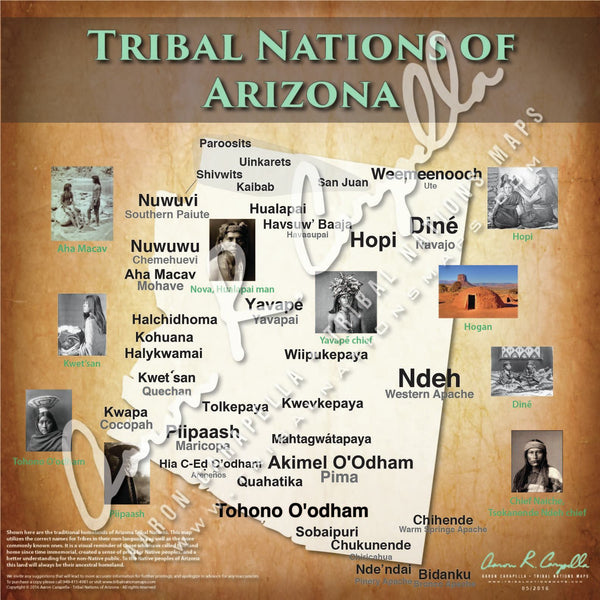 Tribal Nations of Arizona Map Puzzle