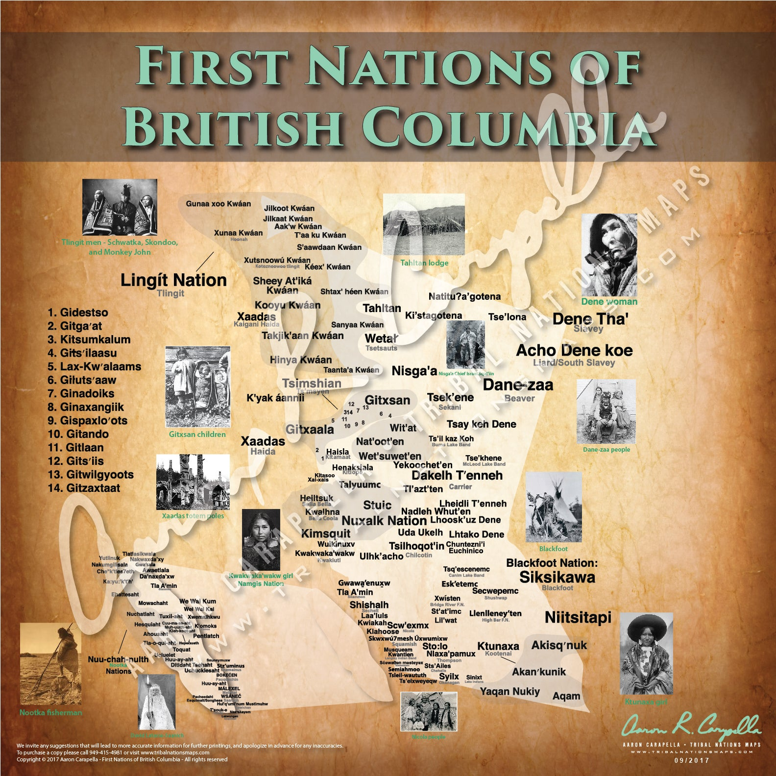 Tribal Nations of British Columbia Map