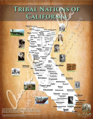 Tribal Nations of California Map