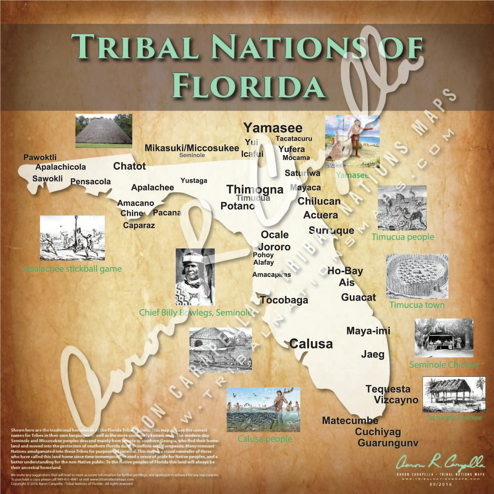 Tribal Nations of Florida Map Puzzle