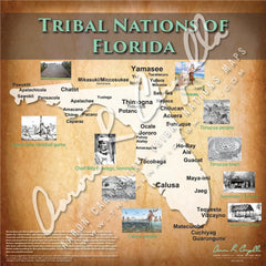 Tribal Nations of Florida Map
