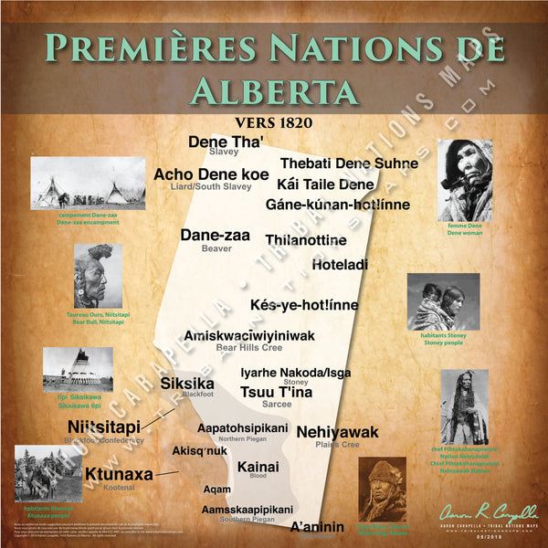 Tribal Nations of Alberta Map (French Version)