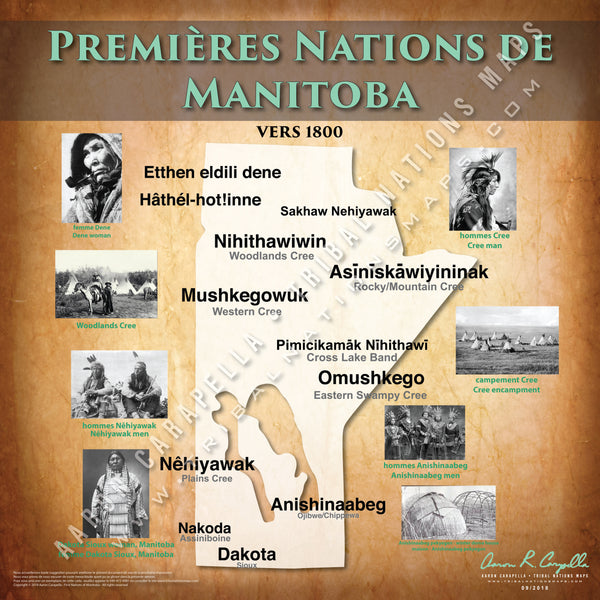 Tribal Nations of Manitoba Map (French Version)