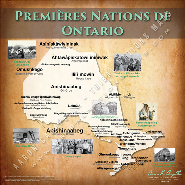 Tribal Nations of Ontario Map (French Version)