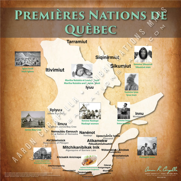 Tribal Nations of Quebec Map (French Version)