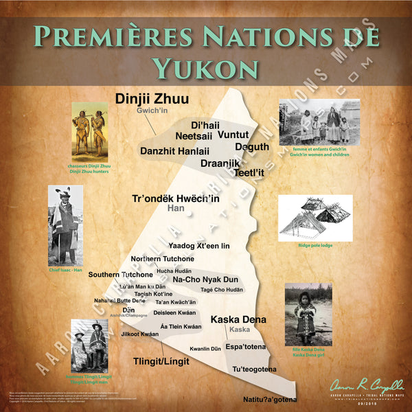 Tribal Nations of Yukon Map (French Version)
