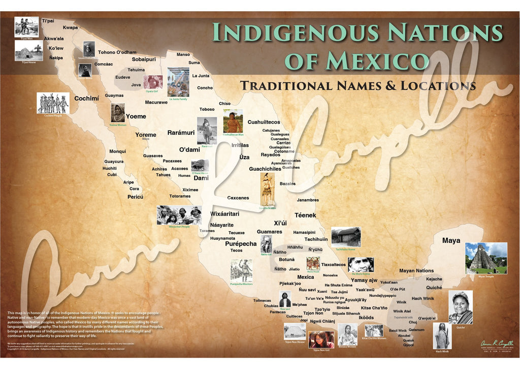 Indigenous Nations Of Mexico Map Native Names Only Indigenous