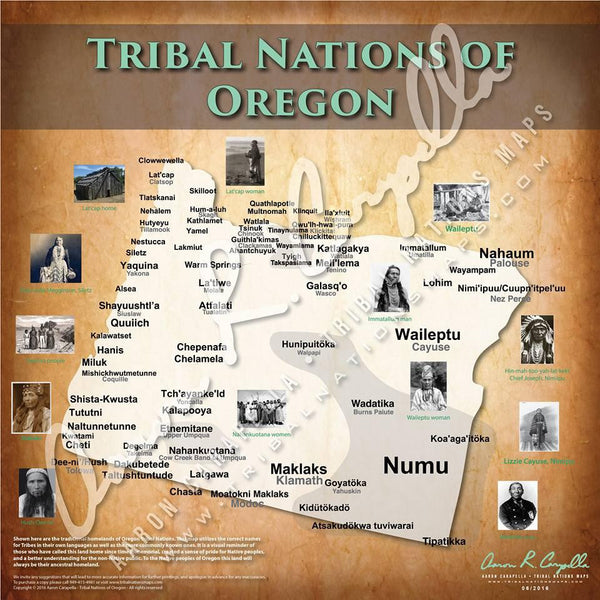 Tribal Nations of Oregon Map