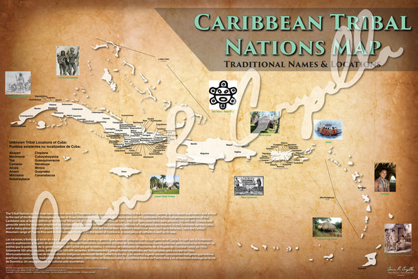 Tribal Nations of the Caribbean Map