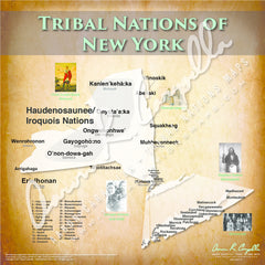 Tribal Nations of New York Map