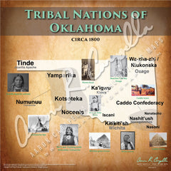 Tribal Nations of Oklahoma Map