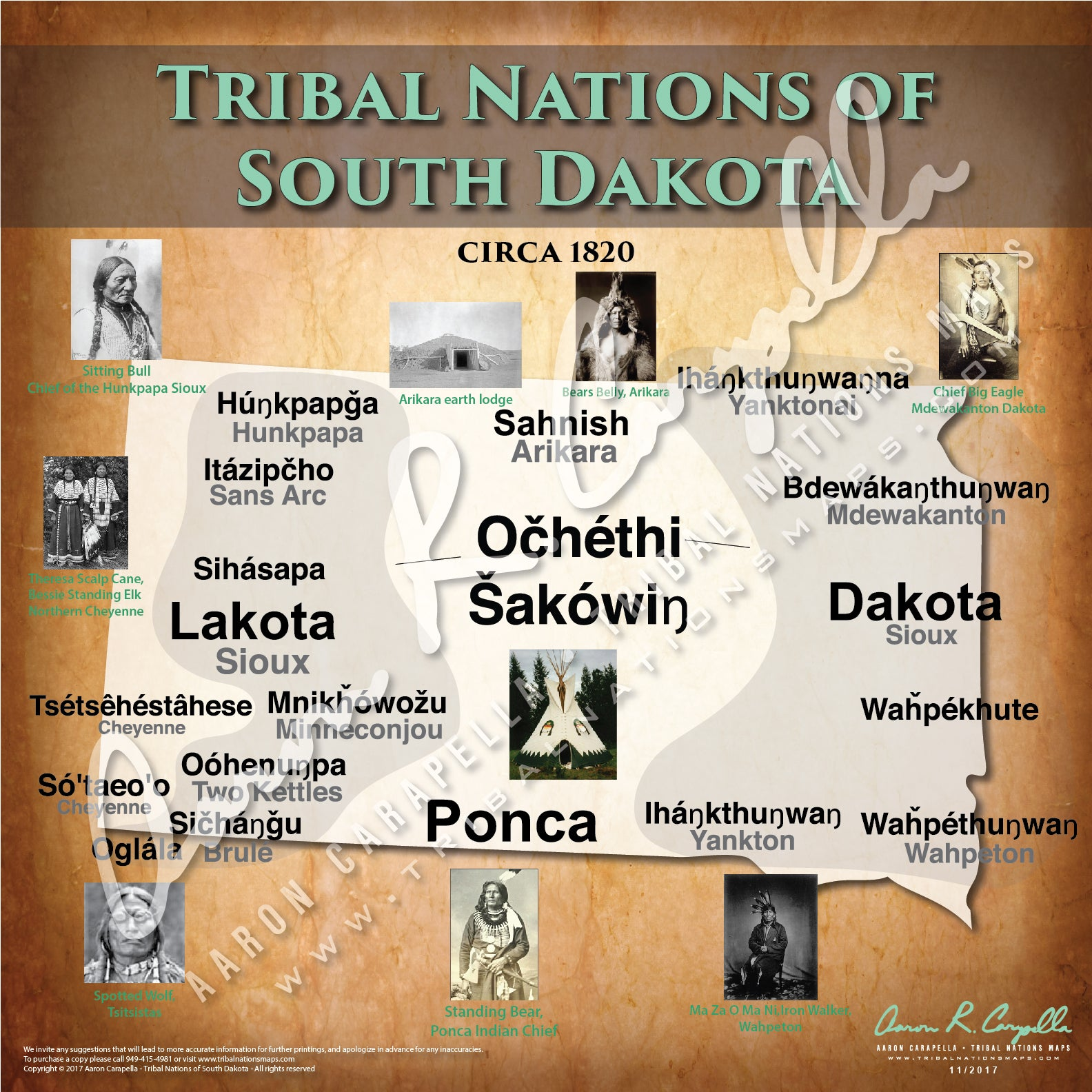 Tribal Nations of South Dakota Map