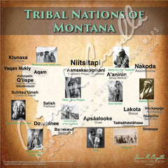 Tribal Nations of Montana Map Puzzle