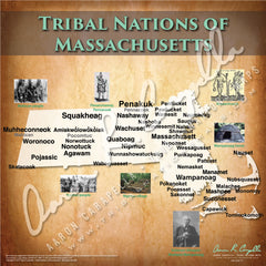 Tribal Nations of Massachusetts Map